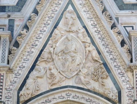 Nanni di Banco - Porta della mandorla (1407-08) - Firenze, Santa Maria del Fiore, fianco nord