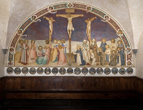 Fra Angelico, Crucifixion, Chapter room, Museum of San Marco