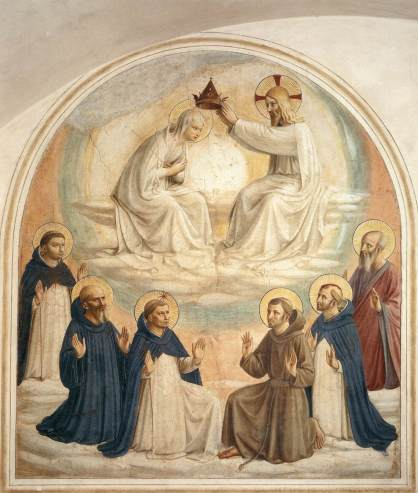 Fra Angelico, Coronation of the Virgin, Museum of San Marco, Cell 9