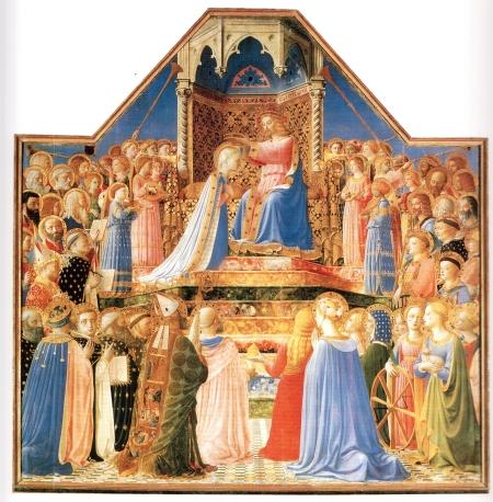 Beato Angelico, Incoronazione della Vergine, Museo del Louvre
