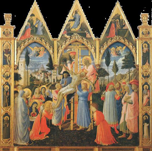 Beato Angelico, Deposizione Strozzi, 1432-1434, Museo di San Marco, Ospizio dei Pellegrini, Firenze