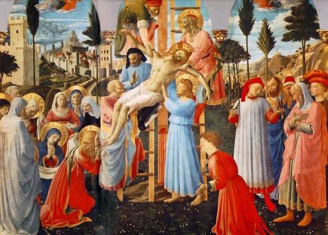 Beato Angelico, Deposizione Strozzi, 1432-1434, Firenze, Museo di San Marco, sala dell'Ospizio dei Pellegrini