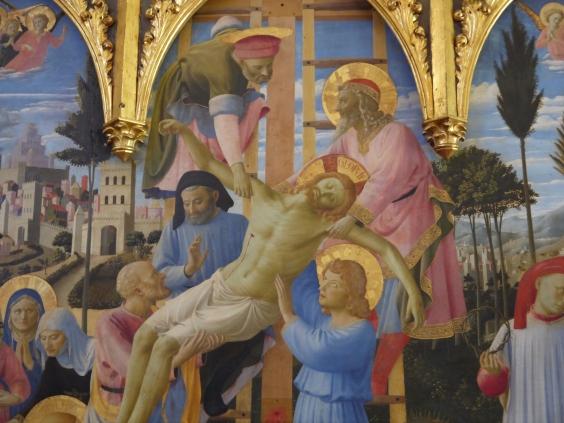 Beato Angelico, Deposizione Strozzi, dettaglio del gruppo della Croce, Museo di San Marco