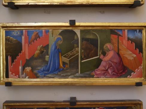Lorenzo Monaco, Natività, Pannello di predella della Deposizione Strozzi, 1425, Museo di San Marco