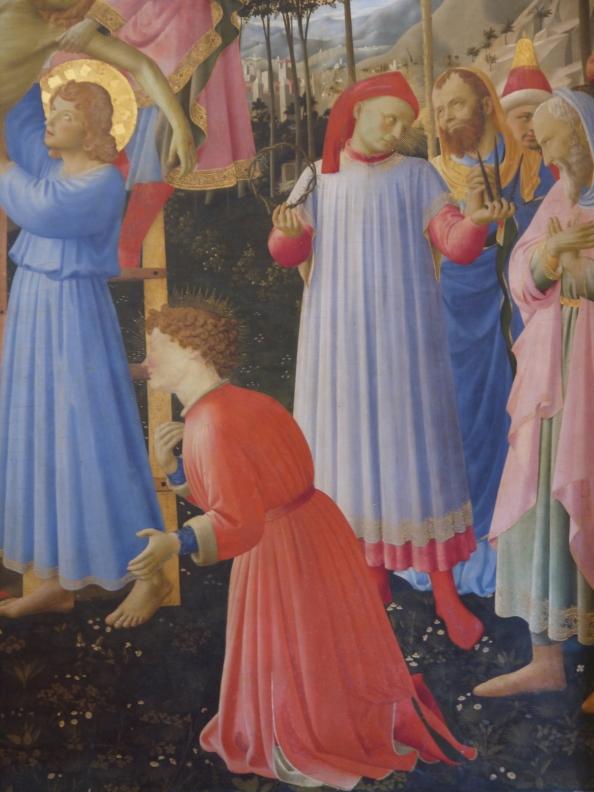 Beato Angelico, Deposizione Strozzi, dettaglio con Palla e Lorenzo Strozzi, Museo di San Marco