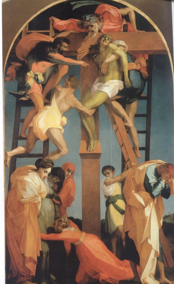 Rosso Fiorentino, Deposizione dalla Croce, 1521, Pinacoteca e Museo Civico, Volterra