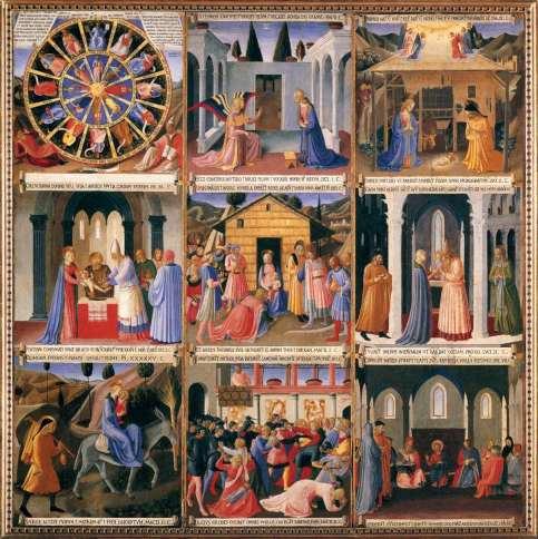 Beato Angelico, Armadio degli Argenti, primo sportello, 1450 ca, Ospizio dei Pellegrini, Museo di San Marco, Firenze