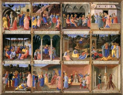 Beato Angelico, Armadio degli Argenti, secondo sportello, 1450 ca, Ospizio dei Pellegrini, Museo di San Marco, Firenze