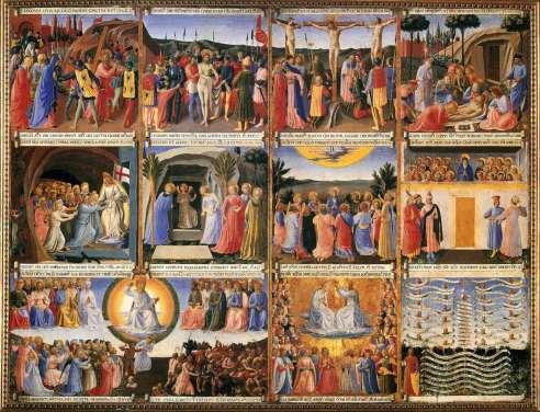 Beato Angelico, Armadio degli Argenti, terzo sportello, 1450 ca, Ospizio dei Pellegrini, Museo di San Marco, Firenze