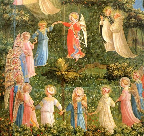 Beato Angelico, Giudizio Finale (dettaglio), 1426 ca, Ospizio dei Pellegrini, Museo di San Marco, Firenze