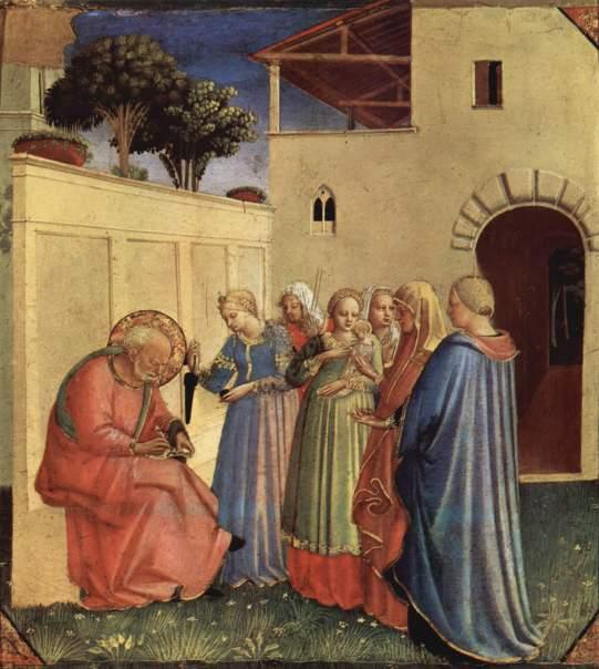 Beato Angelico, Imposizione del nome del Battista, ante 1435, Ospizio dei Pellegrini, Museo di San Marco, Firenze