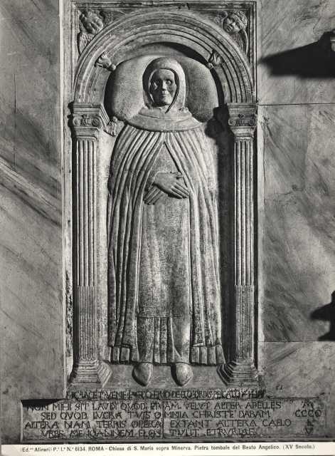 Ritratto funebre di Beato Angelico, Santa Maria Sopra Minerva, Roma