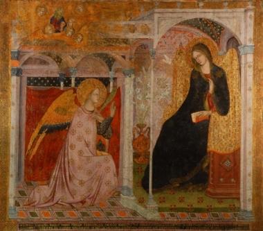 Annunciazione di Prete Ilario sull'altare della Porziuncola (1393)