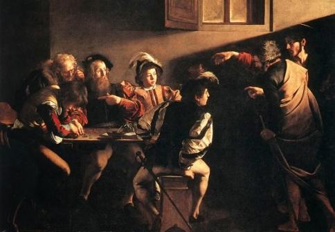 Caravaggio, Vocazione di San Matteo, Chiesa di San Luigi dei francesi, Roma