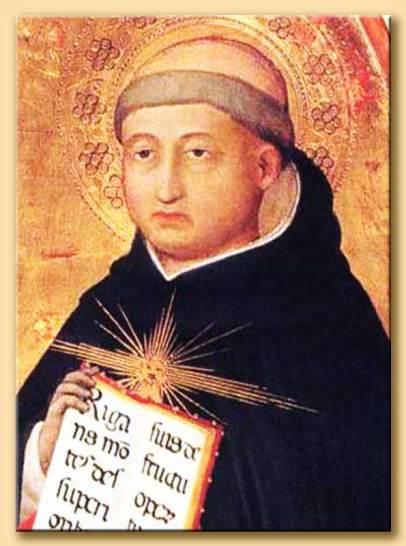 Beato Angelico, San Tommaso d'Aquino, dettaglio Trittico di San Pietro Martire, Museo di San Marco