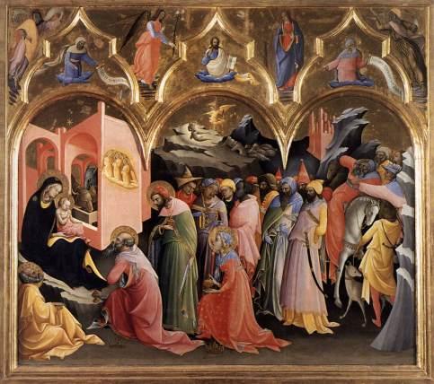 Lorenzo Monaco, Adorazione dei Magi, Galleria degli Uffizi, Firenze