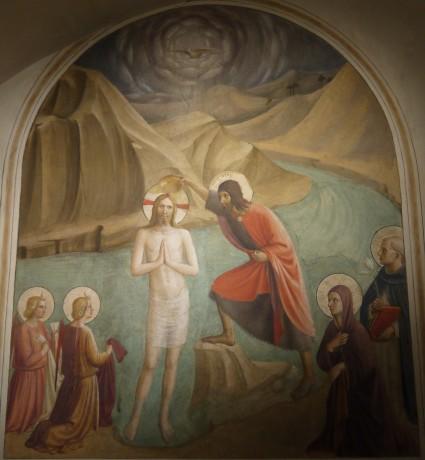 Battesimo di Gesù: cella 24 del Convento di San Marco