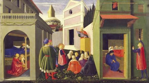 Beato Angelico, parte di Predella con storie di S. Nicola, Trittico di Perugia, Musei Vaticani, Vaticano