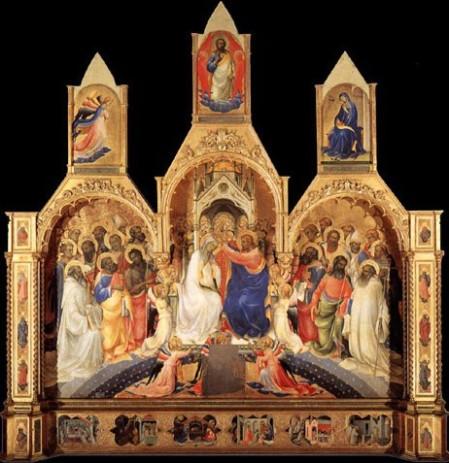 Lorenzo Monaco, Incoronazione della Vergine da Santa Maria degli Angeli, Firenze, Galleria degli Uffizi
