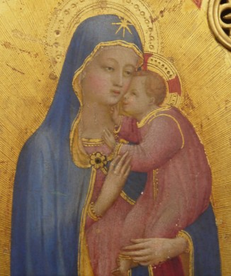 Beato Angelico, Madonna della stella (dettaglio), Firenze, Museo di San Marco