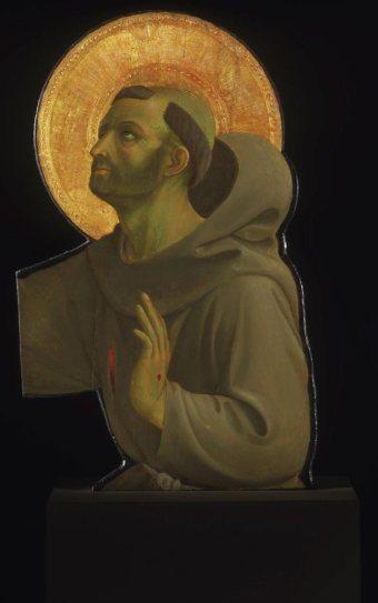 Beato Angelico, San Francesco, frammento della Crocifissione della Confraternita di San Niccolò al Ceppo, Philadelphia Museum of Art