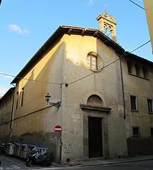 Chiesa del convento di Santa Maria degli Angiolini su via della Colonna