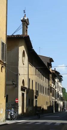 Convento di Santa Maria degli Angiolini su via della Colonna