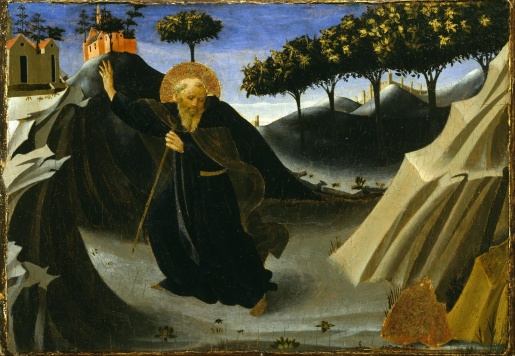Sant'Antonio Abate tentato dall'oro, Houston, Museum of Fine Arts