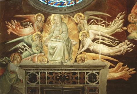 Agnolo Gaddi, Madonna della cintola, Cappella del Sacro Cingolo, duomo di Prato (1392-95)