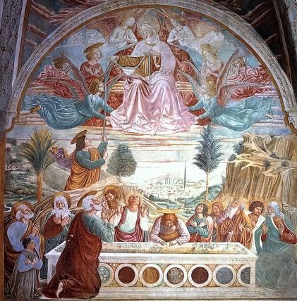Benozzo Gozzoli, Madonna della Cintola, Tabernacolo della Tosse (1584)