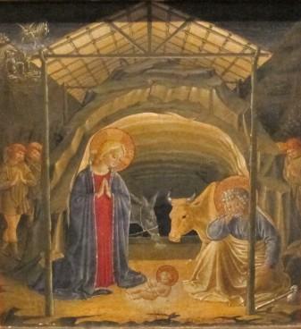 Benozzo Gozzoli, Natività, dalla predella della Madonna della Cintola