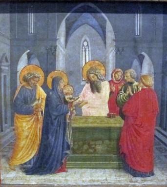 Benozzo Gozzoli, Presentazione di Gesù al Tempio, dalla predella della Madonna della Cintola