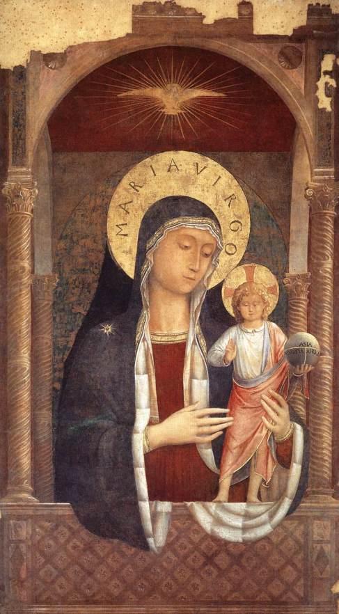 Benozzo Gozzoli, Madonna col Bambino, Santa Maria Sopra Minerva, Roma