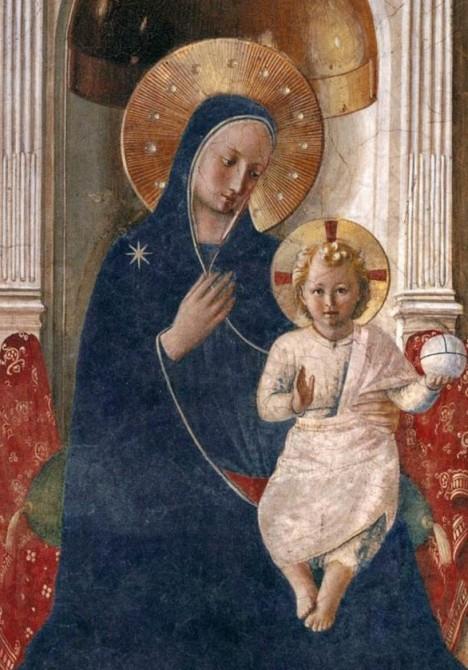 Beato Angelico, Madonna delle Ombre, Museo di San Marco, Firenze, dettaglio