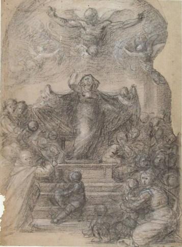 Fra Bartolomeo, Studio per la Madonna della Misericordia, c.a. 1515, Museo Boijmans Van Beuningen (Collection Koenigs)