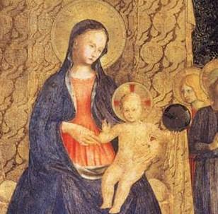 Beato Angelico, Pala di San Marco, Museo di San Marco, Firenze, dettaglio