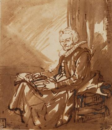 Rembrandt van Rijn, Donna seduta con libro aperto, c.a. 1639, Museum Boijmans Van Beuningen (Collection Koenigs)