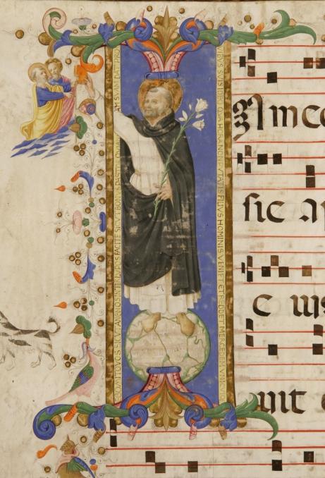 Zanobi Strozzi e Filippo di Matteo Torelli, Missione di San Domenico, Graduale festivo B, Biblioteca del Museo di San Marco