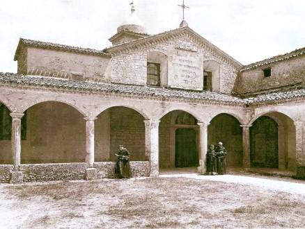 Il convento di San Fortunato attorno al 1930