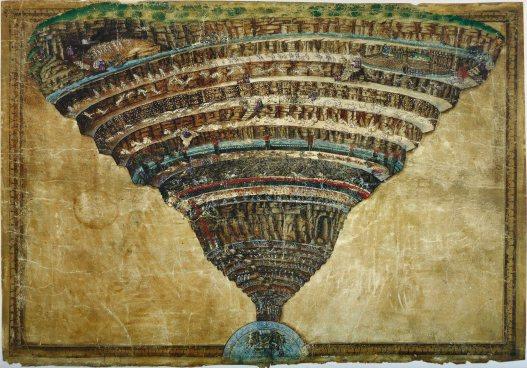 Sandro Botticelli, Mappa dell'Inferno, Biblioteca Apostolica Vaticana