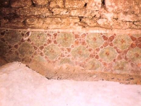 Corridoio Giovanato, decorazione pittorica rinvenuta sotto la pavimentazione, Museo di San Marco, Firenze