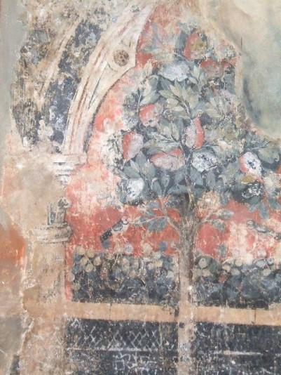 Frammento di decorazione parietale, proveniente da una casa dei Sassetti, Foresteria, Museo di San Marco, Firenze