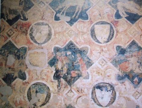 Frammento di decorazione parietale proveniente dalla casa dei Teri, Foresteria, Museo di San Marco