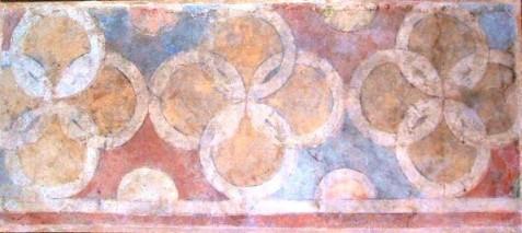 Frammento di decorazione parietale proveniente dal Palazzo Arcivescovile, Foresteria, Museo di San Marco, Firenze