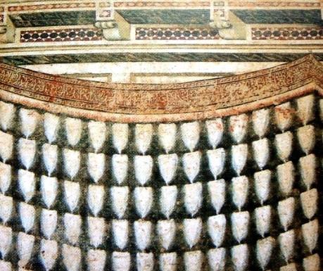 Frammento di decorazione parietale proveniente da una casa degli Strozzi o dei Lamberti, Sala delle Conferenze, Palazzo Davanzati