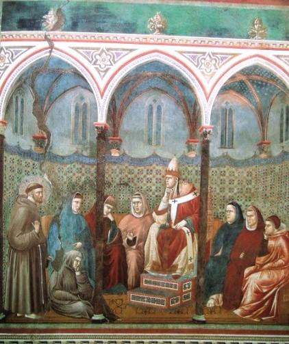 Giotto, Predica di San Francesco di fronte a Papa Onorio III, Basilica Superiore di San Francesco, Assisi