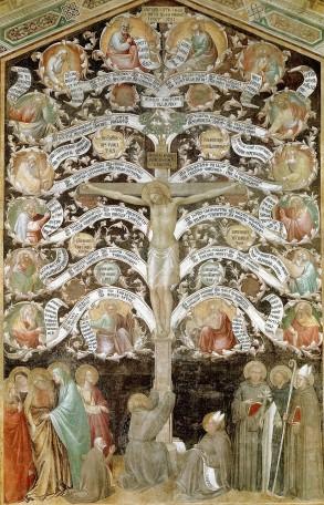 Taddeo Gaddi, Albero della vita, Refettorio del Convento di Santa Croce (Firenze)