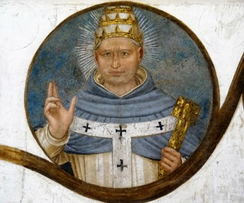 Beato Angelico, Papa Benedetto XI, Sala del Capitolo (Museo di San Marco, Firenze)