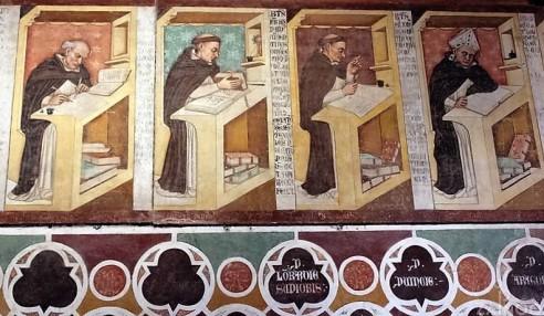 Tommaso da Modena, Ritratti di illustri domenicani (dettaglio), Sala capitolare del Convento di San Niccolò (Treviso)