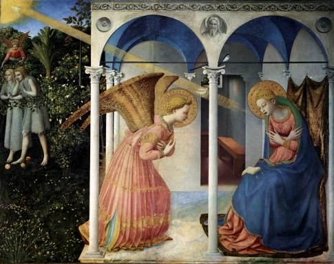 Angelico - Annunciazione (1430-32) - Museo del Prado, Madrid
